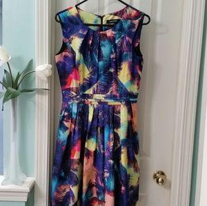 Ellen Tracy Multicolored Dress